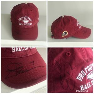 Redskins Pro Football Hall Of Fame Signed Hat